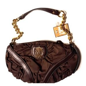 NWT- JUICY COUTURE BROWN STRETCH CHAIN STRAP HOBO